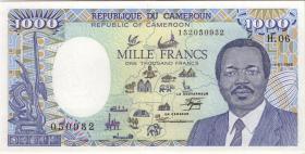 Kamerun / Cameroun P.26a 1000 Francs 1989 (1)