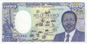 Kamerun / Cameroun P.26a 1000 Francs 1988 (1)