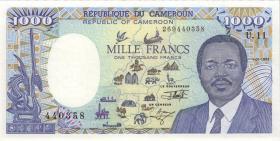 Kamerun / Cameroun P.26c 1000 Francs 1992 (1)