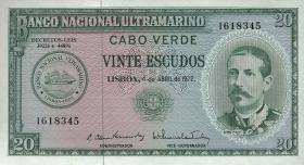 Kap Verde / Cape Verde P.52 20 Escudos 1972 (1)