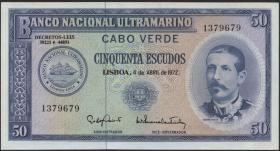 Kap Verde / Cape Verde P.53 50 Escudos 1972 (1)