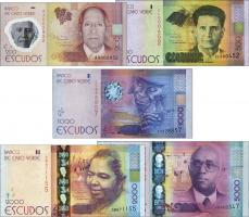Kap Verde / Cape Verde P.71-75  200-5000 Escudos 2014 (Satz 5 Werte)