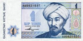 Kasachstan / Kazakhstan P.07 1 Tenge 1993 (1)