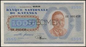 Katanga P.10s 1000 Francs 1960 Specimen (1)