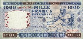 Katanga P.14a 1000 Francs 1962 (2)