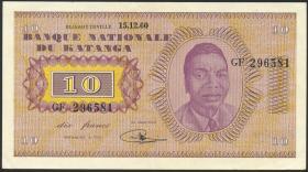 Katanga P.05a 10 Francs 15.12.1960 (2)