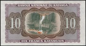 Katanga P.05A 10 Francs 1960 unfertiger Druck (1)