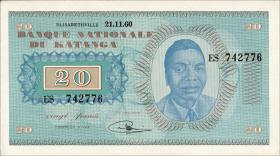 Katanga P.06a 20 Francs 1960 (1)