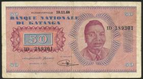 Katanga P.07a 50 Francs 1960 (mit Serienr.) (3)