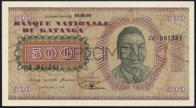 Katanga P.09s 500 Francs 1960 Specimen (1)