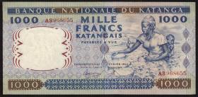 Katanga P.14a 1000 Francs 1962 (1/1-)