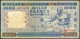 Katanga P.14a 1000 Francs 1962 (3)