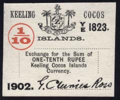 Keeling Cocos P.S123 1/10 Rupee 1902 (1)