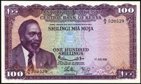 Kenia / Kenya P.05a 100 Shillings 1966 (1/1-)