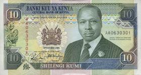 Kenia / Kenya P.24a 10 Shillings 1989 (1)