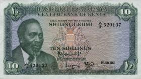 Kenia / Kenya P.02a 10 Shillings 1967 (3+)