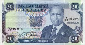 Kenia / Kenya P.25c 20 Shillings 1990 (1)