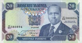 Kenia / Kenya P.25e 20 Shillings 1992 (1)