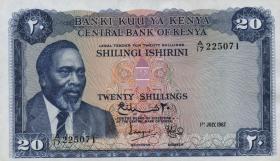 Kenia / Kenya P.03b 20 Shillings 1967 (2+)