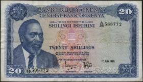 Kenia / Kenya P.08a 20 Shillings 1969 (3)