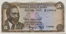 Kenia / Kenya P.06a 5 Shillings 1969 (2)