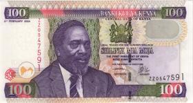 Kenia / Kenya P.42r 100 Shillings 2004 ZZ (1)