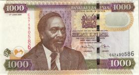 Kenia / Kenya P.51d 1000 Shillings 2009 (1)