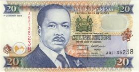 Kenia / Kenya P.35a2 20 Shillings 1996 (1)