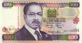 Kenia / Kenya P.37f 100 Shillings 2001 (1)