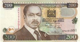 Kenia / Kenya P.38f 200 Shillings 2001 (1)