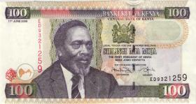 Kenia / Kenya P.48d 100 Shillings 2009 (1)