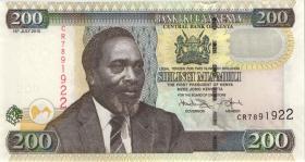 Kenia / Kenya P.49e 200 Shillings 2010 (1)