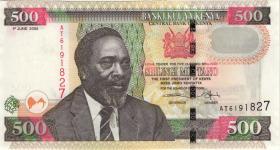 Kenia / Kenya P.50a 500 Shillings 2005 (1)