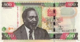 Kenia / Kenya P.50c 500 Shillings 2008 (1)