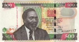 Kenia / Kenya P.50e 500 Shillings 2010 (1)