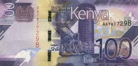 Kenia / Kenya P.neu 100 Shillings 2019 (1)