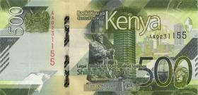 Kenia / Kenya P.neu 500 Shillings 2019 (1)