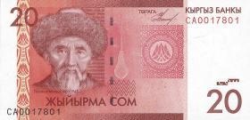 Kirgistan / Kyrgyzstan P.24 20 Som 2009 (1)
