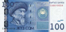 Kirgistan / Kyrgyzstan P.26a 100 Som 2009 (1)