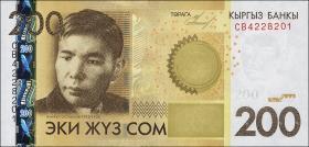Kirgistan / Kyrgyzstan P.27a 200 Som 2010 (1)