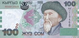 Kirgistan / Kyrgyzstan P.21 100 Som (2002) (1)