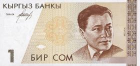 Kirgistan / Kyrgyzstan P.07 1 Som (1994) (1)