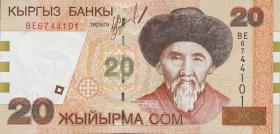 Kirgistan / Kyrgyzstan P.19 20 Som (2002) (1)