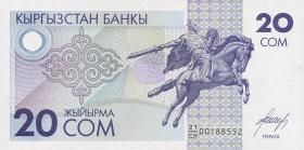 Kirgistan / Kyrgyzstan P.06 20 Som (1993) (1)