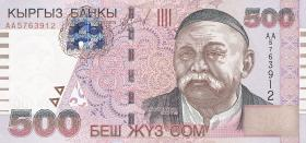 Kirgistan / Kyrgyzstan P.17 500 Som 2000 (1)