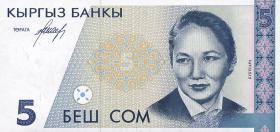 Kirgistan / Kyrgyzstan P.08 5 Som (1994) (1)