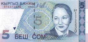 Kirgistan / Kyrgyzstan P.13 5 Som 1997 (1)