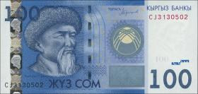 Kirgistan / Kyrgyzstan P.26b 100 Som 2016 (1)