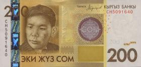Kirgistan / Kyrgyzstan P.27b 200 Som 2016 (1)