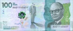 Kolumbien / Colombia P.neu 100.000 Pesos 2014 (1)